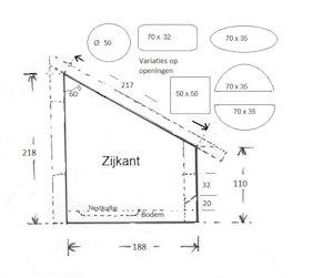 Nestkast Gierzwaluw ModelVoordorp Werktekening 1b klein